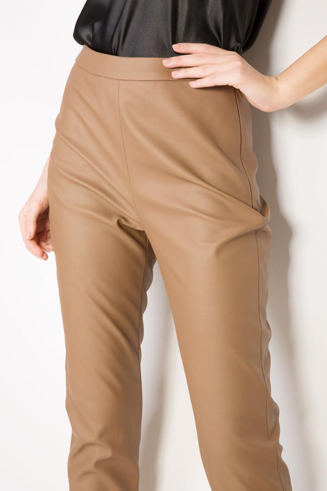 Pantaloni din piele ecologica  Acob a Porter imagine 3