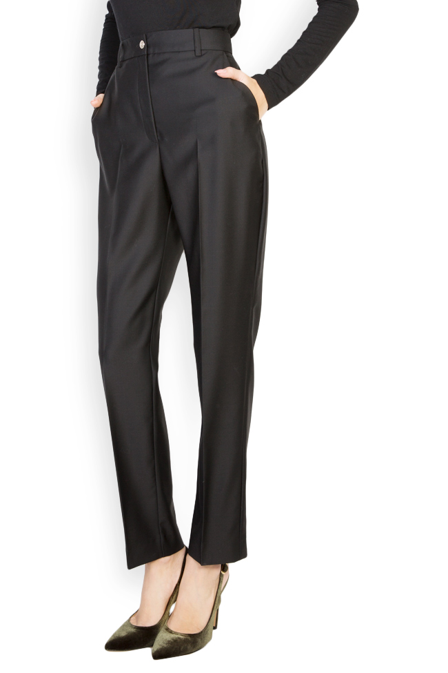 Wool tapered high waisted pants Acob a Porter image 0