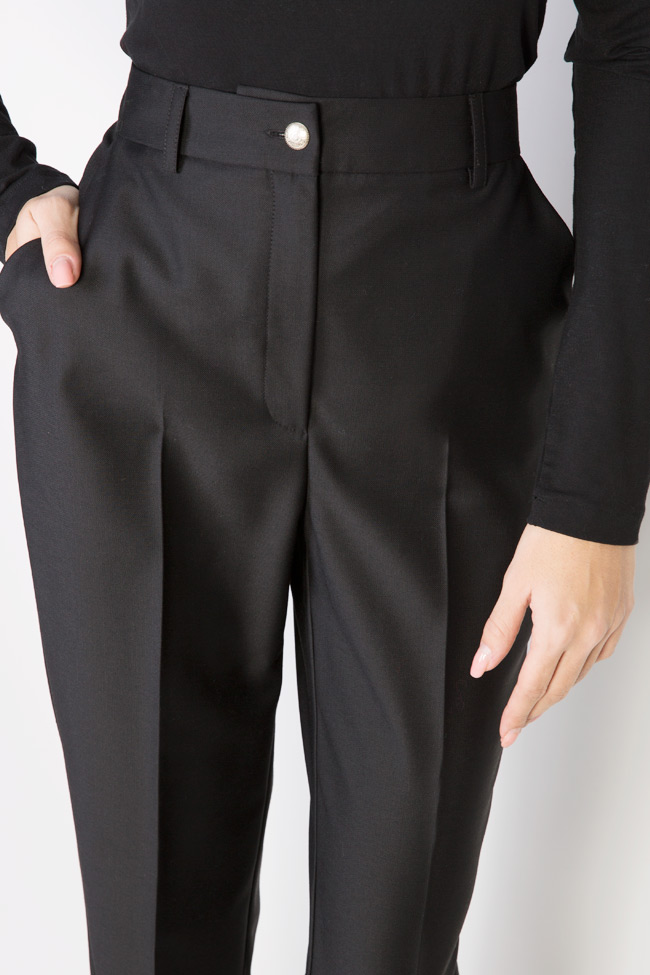 Wool tapered high waisted pants Acob a Porter image 3