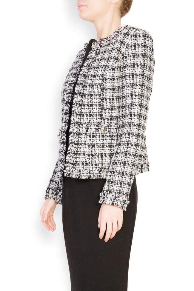 Classic bicolored cotton-blend jacket Acob a Porter image 0
