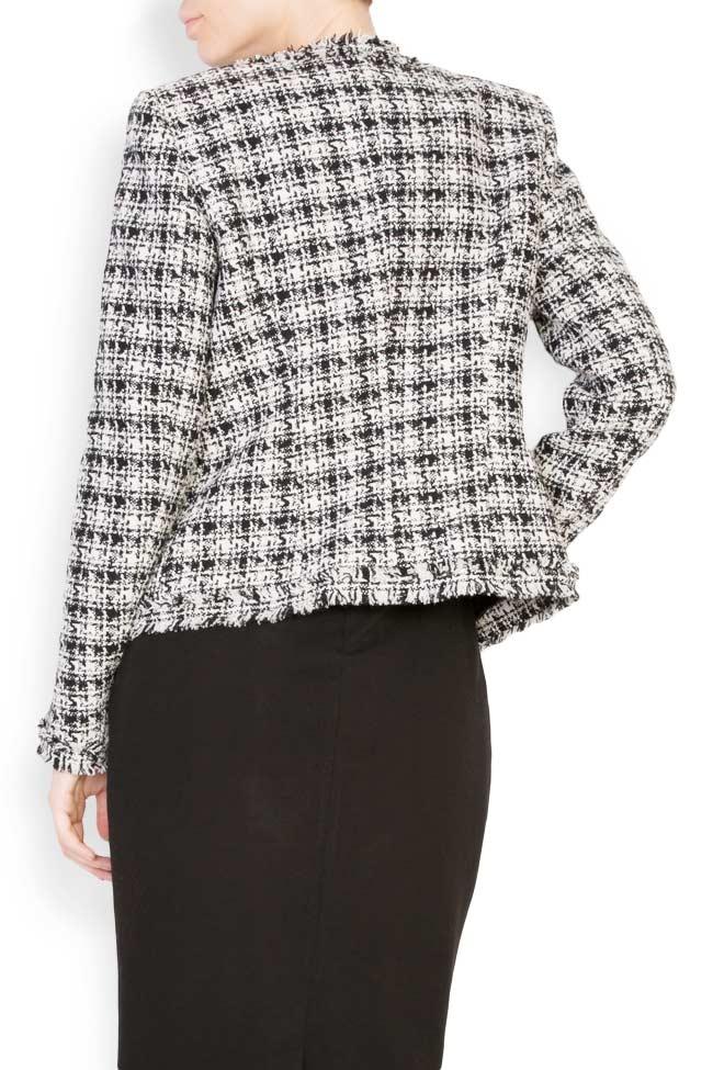 Classic bicolored cotton-blend jacket Acob a Porter image 2