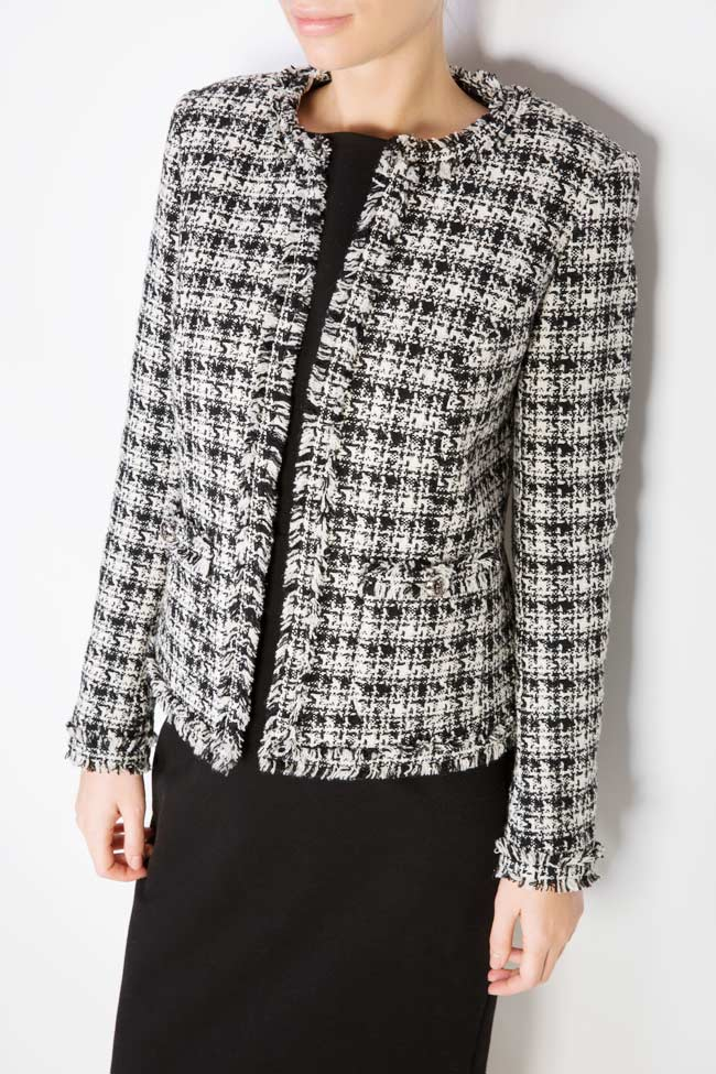 Classic bicolored cotton-blend jacket Acob a Porter image 3
