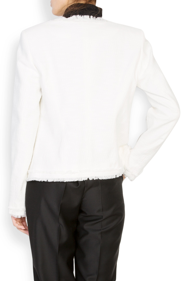 Classic cotton-blend jacket with fringes Acob a Porter image 2