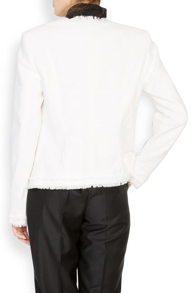 Veste classique en coton avec franges Acob a Porter image 2