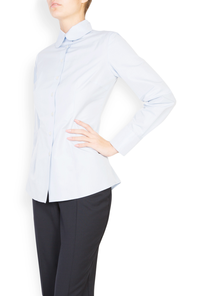 Cotton shirt with round collar Acob a Porter image 1