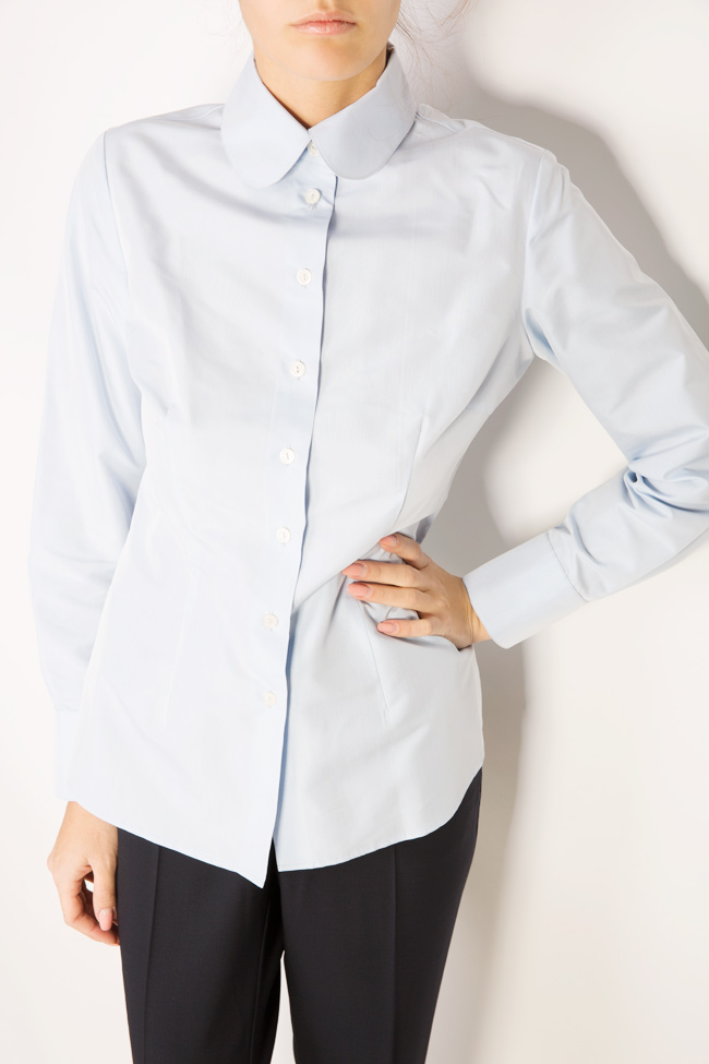 Cotton shirt with round collar Acob a Porter image 3