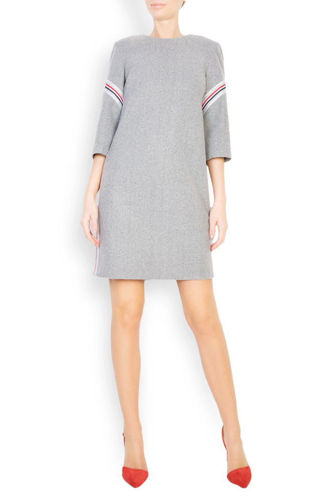 Mini wool dress with inserts Carmen Ormenisan image 0