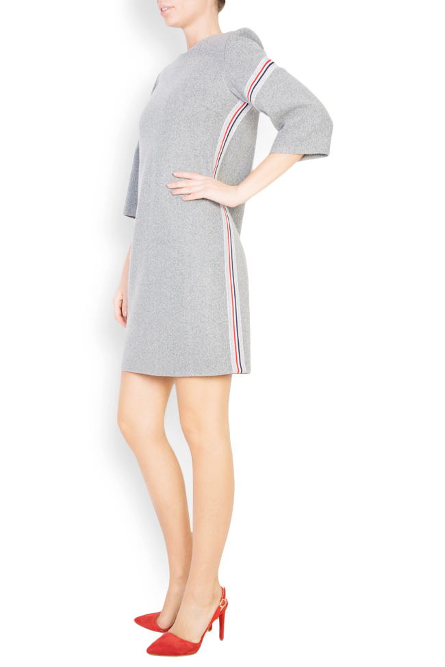 Mini wool dress with inserts Carmen Ormenisan image 1
