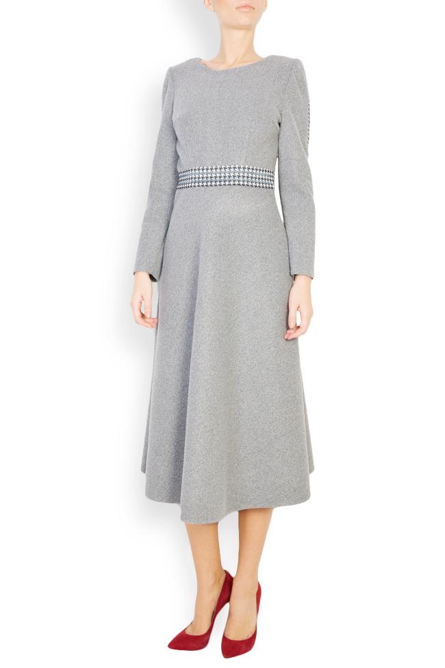 Robe en étoffe de laine à carreaux Carmen Ormenisan image 0