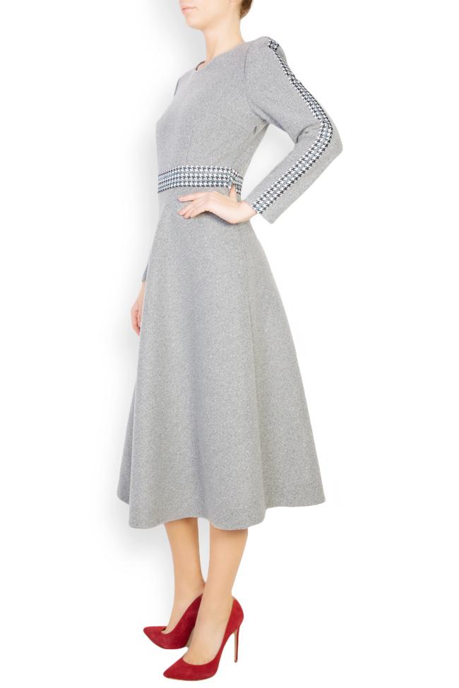 Rochie din stofa de lana cu carouri  Carmen Ormenisan imagine 1