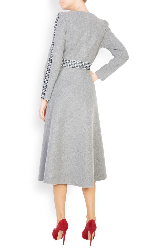 Robe en étoffe de laine à carreaux Carmen Ormenisan image 2