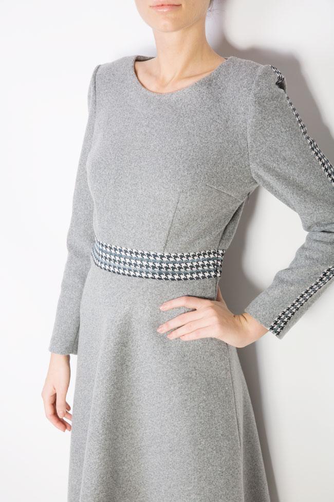 Rochie din stofa de lana cu carouri  Carmen Ormenisan imagine 3