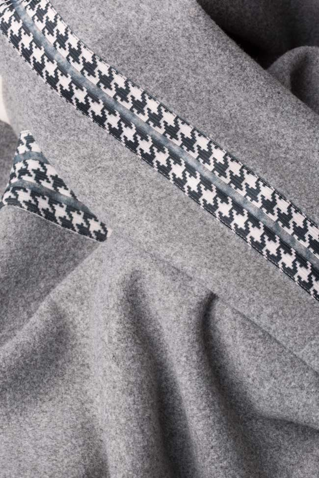 Rochie din stofa de lana cu carouri  Carmen Ormenisan imagine 4