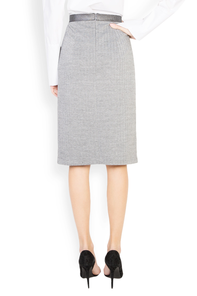 Wool midi skirt Carmen Ormenisan image 2