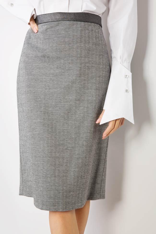 Wool midi skirt Carmen Ormenisan image 3