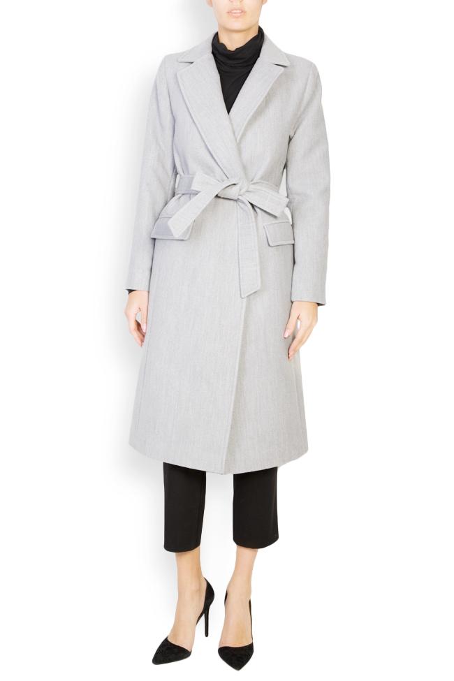 Palton din stofa cu cordon Mariana Ciceu imagine 0