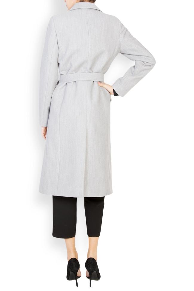 Manteau midi croisé avec cordon Mariana Ciceu image 2