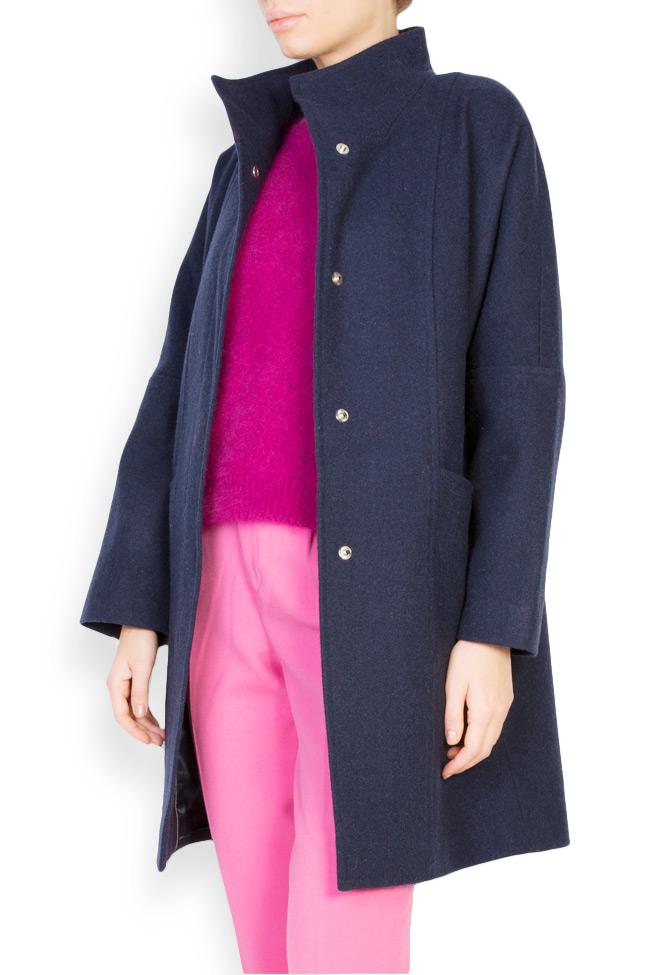 Palton supradimensionat din stofa de lana  Mariana Ciceu imagine 1
