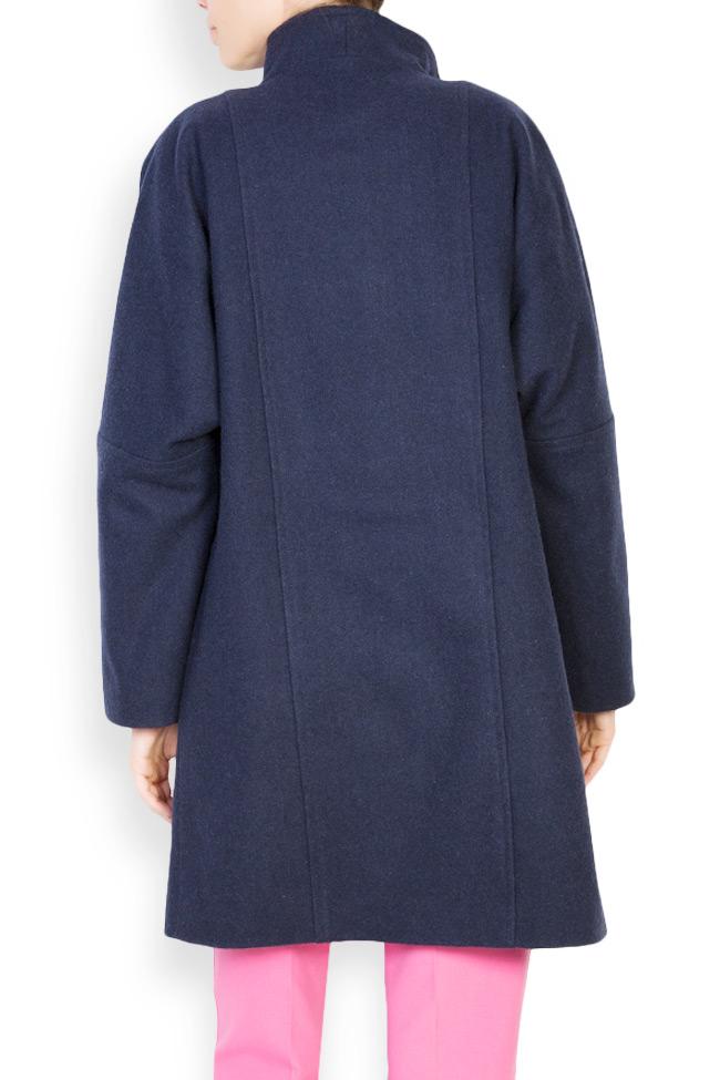 Palton supradimensionat din stofa de lana  Mariana Ciceu imagine 2