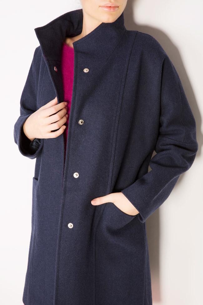 Palton supradimensionat din stofa de lana  Mariana Ciceu imagine 3