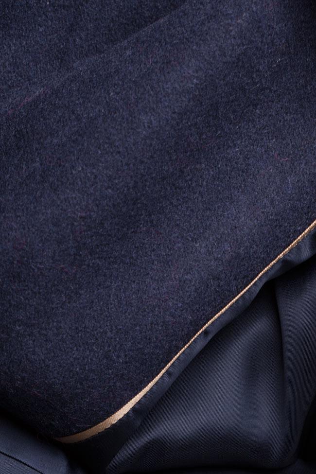 Palton supradimensionat din stofa de lana  Mariana Ciceu imagine 4
