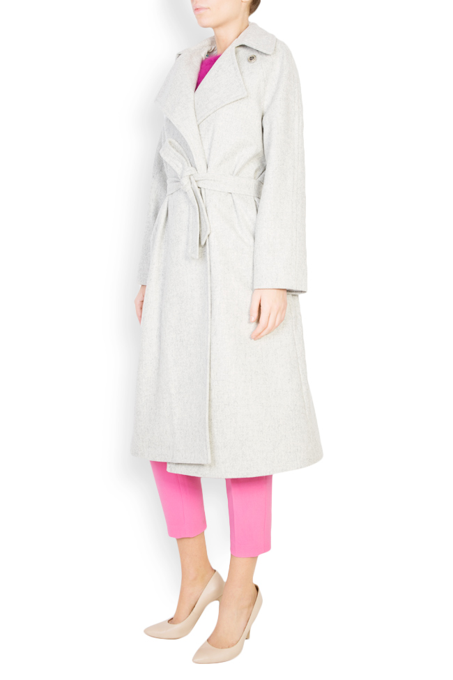 Asymmetric wool-blend coat  Mariana Ciceu image 1