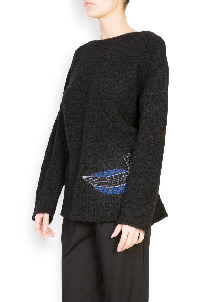 Pull brodé en mélange de laine Fischerman Argo by Andreea Buga image 1