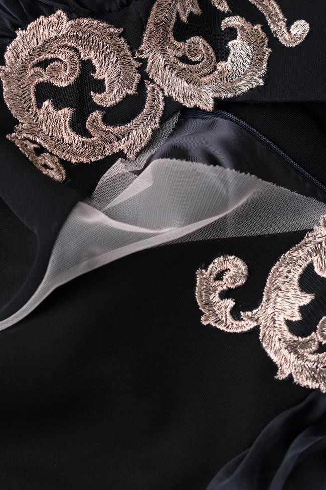Maya embellished dress with silk sleeves Mirela Pellegrini image 4