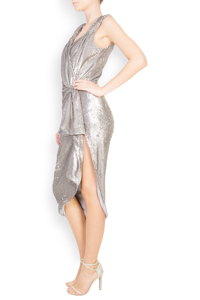 Sequined draped midi tulle dress Mirela Diaconu  image 1