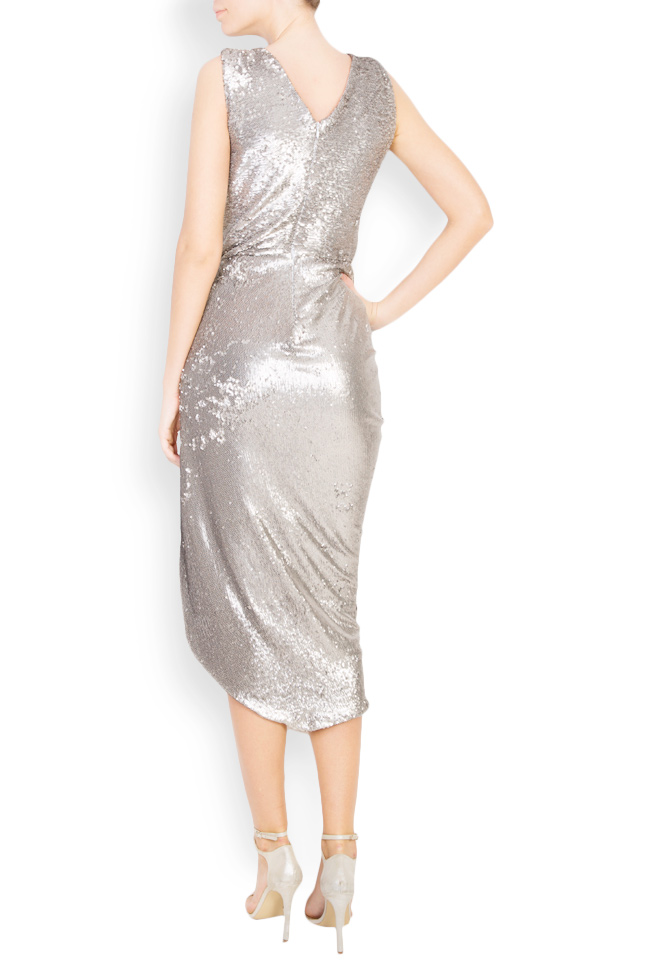 Sequined draped midi tulle dress Mirela Diaconu  image 2