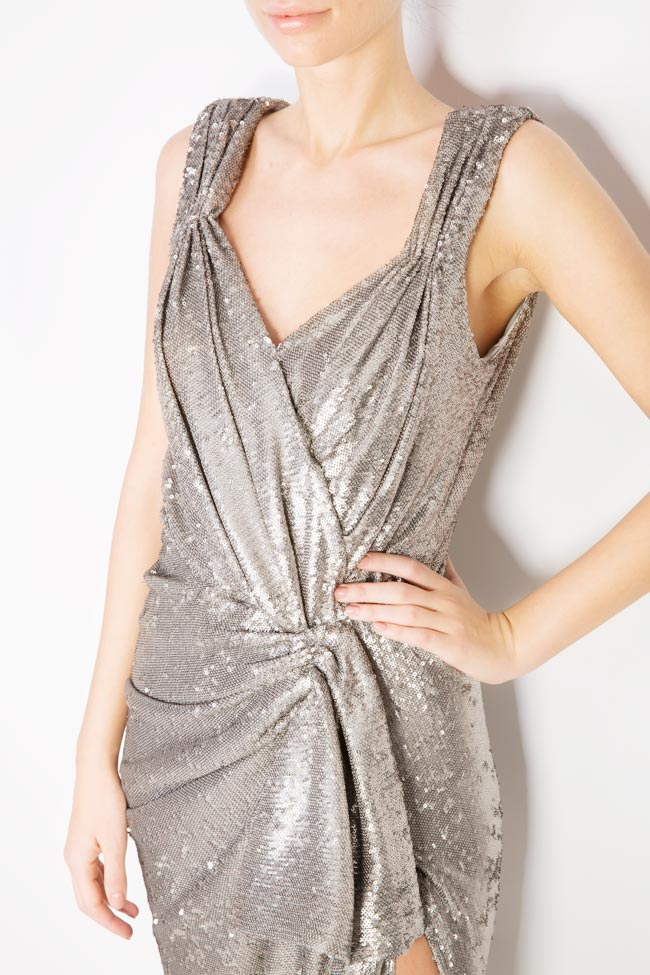 Sequined draped midi tulle dress Mirela Diaconu  image 3