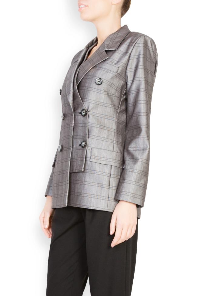 Veste à carreaux en mélange de laine Mirela Diaconu  image 1