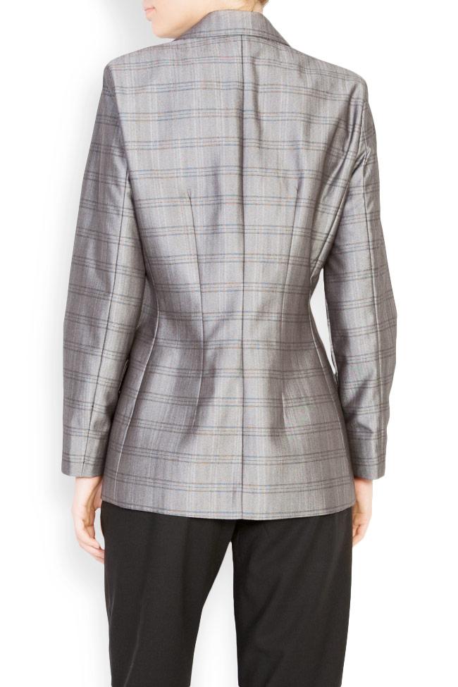 Veste à carreaux en mélange de laine Mirela Diaconu  image 2