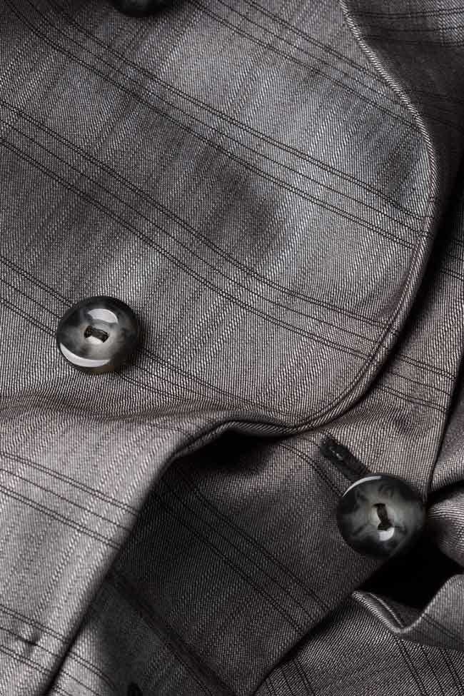 Veste à carreaux en mélange de laine Mirela Diaconu  image 4