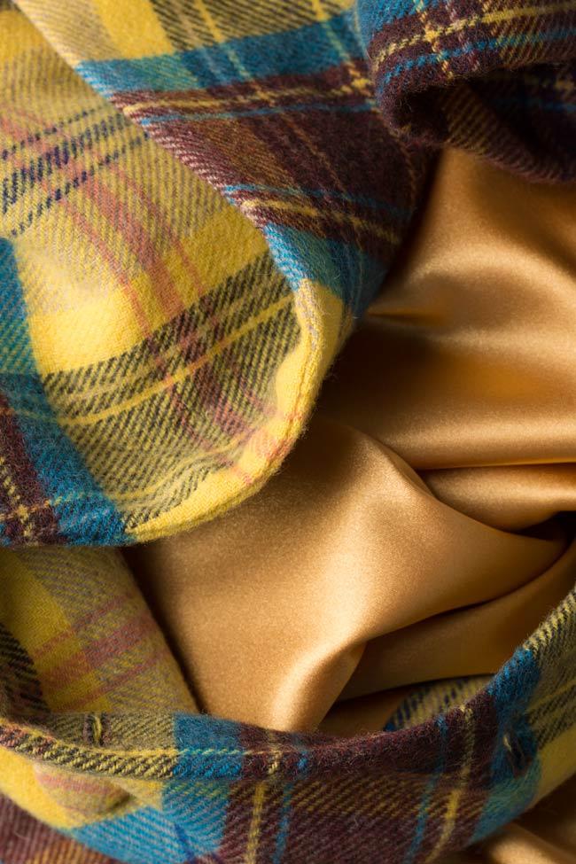 Palton din amestec de lana in carouri  Mirela Diaconu  imagine 4