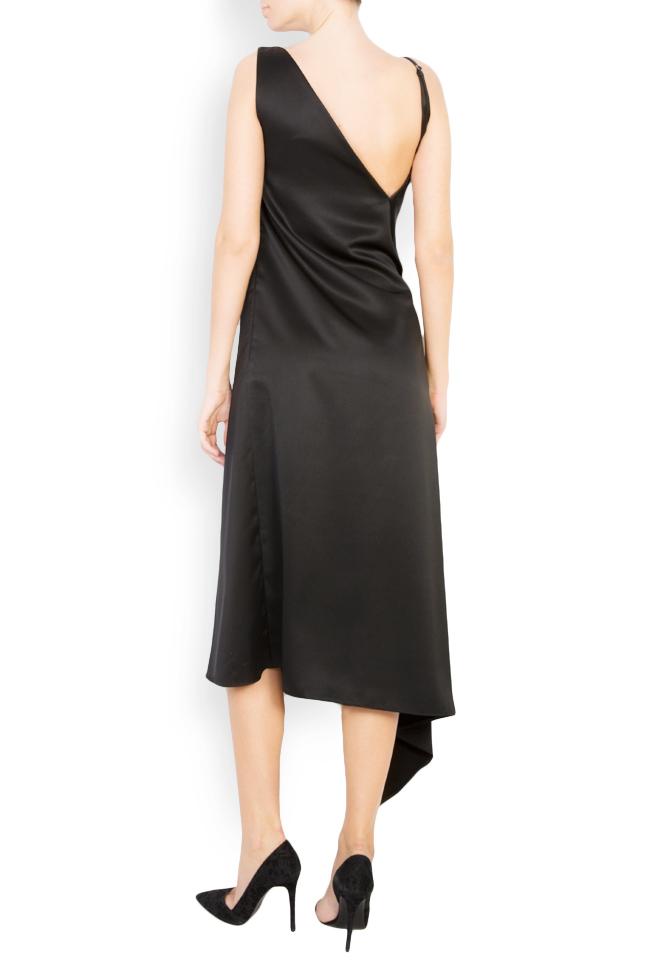 Button-embellished satin gown Mirela Diaconu  image 2