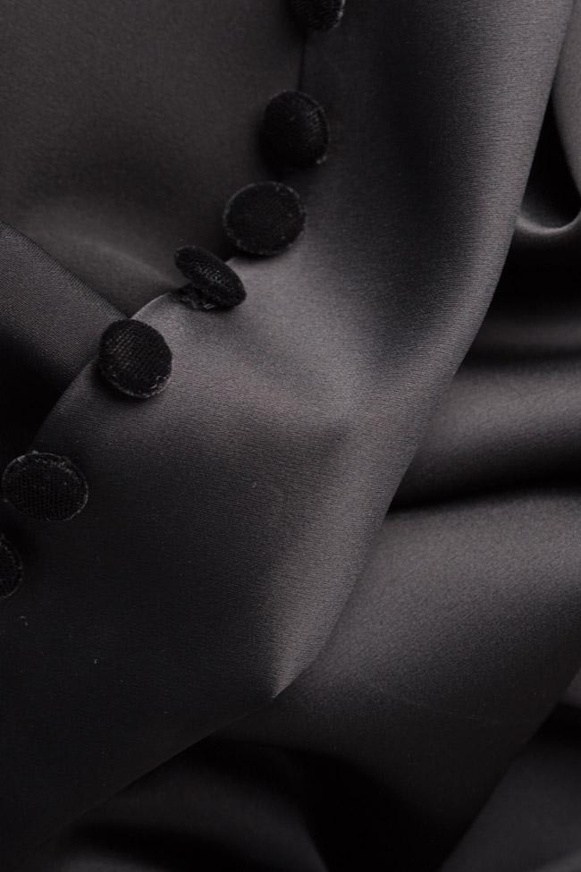 Button-embellished satin gown Mirela Diaconu  image 4