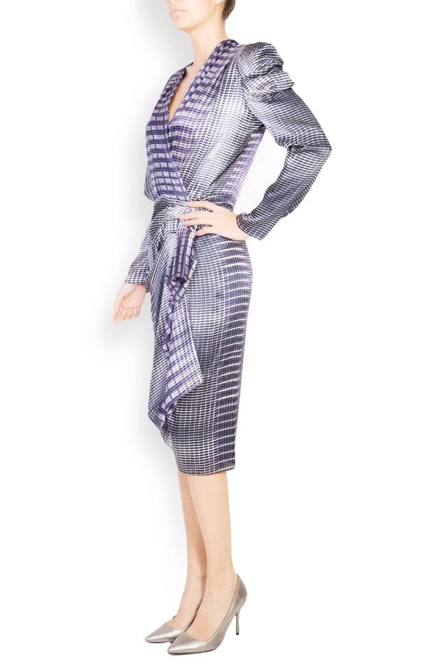 Printed silk draped dress Mirela Diaconu  image 1