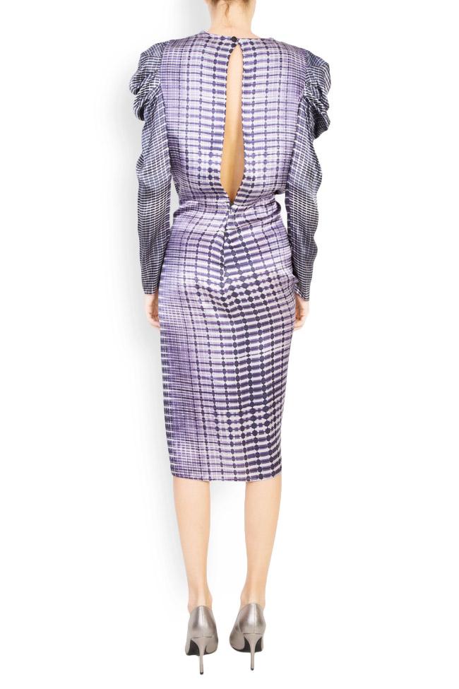 Printed silk draped dress Mirela Diaconu  image 2