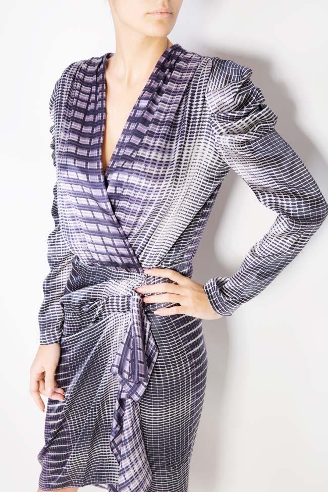 Printed silk draped dress Mirela Diaconu  image 3