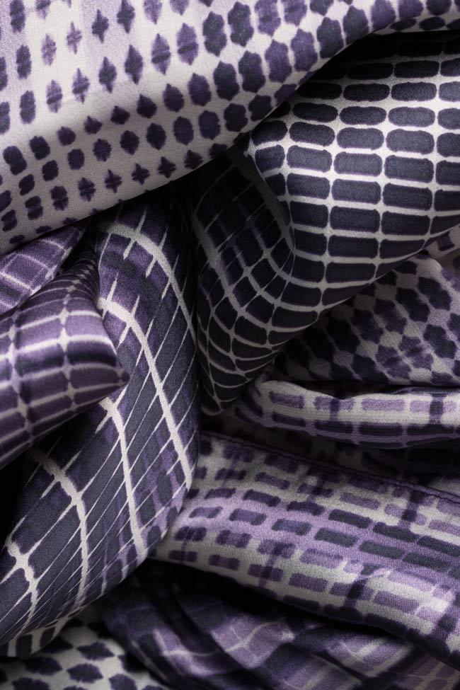 Printed silk draped dress Mirela Diaconu  image 4