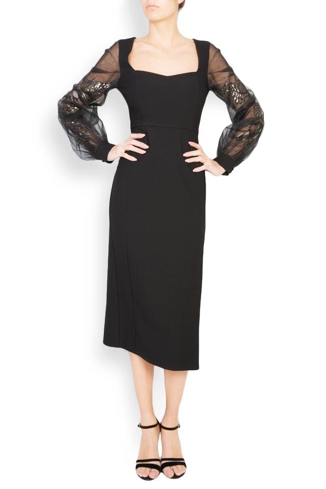 Alexis embellished crepe tulle dress  Simona Semen image 0