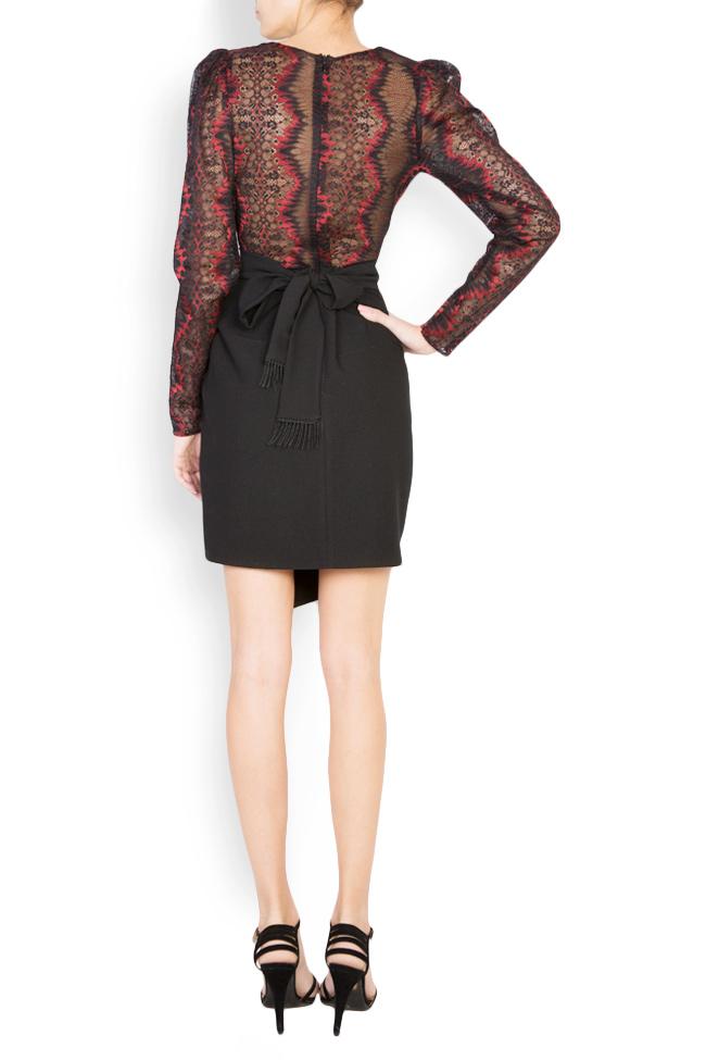 Abbetina embellished lace-trimmed mini crepe dress Simona Semen image 2