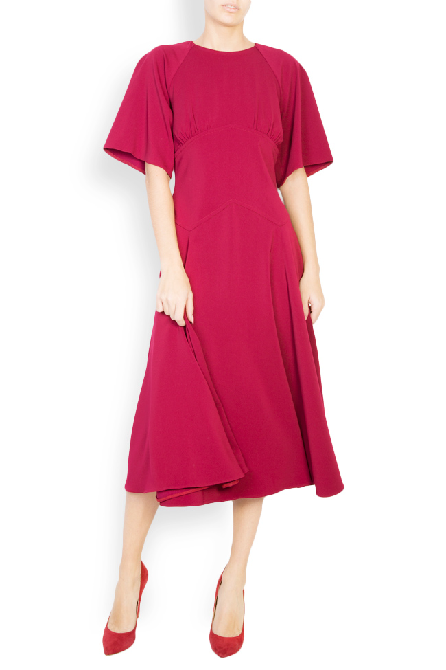 Cotton-blend crepe midi dress Bluzat image 0