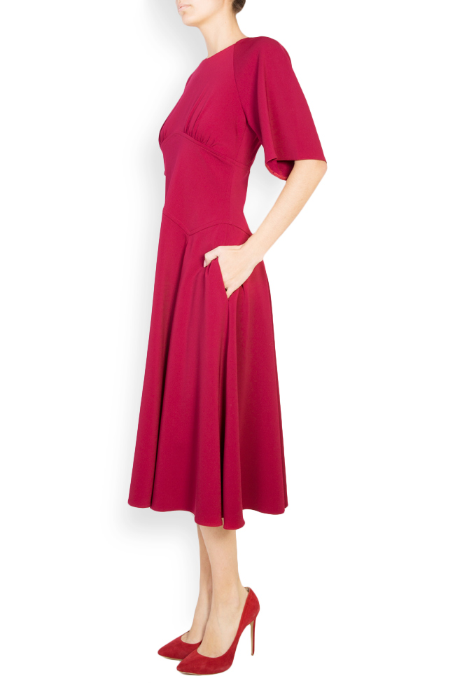 Cotton-blend crepe midi dress Bluzat image 1
