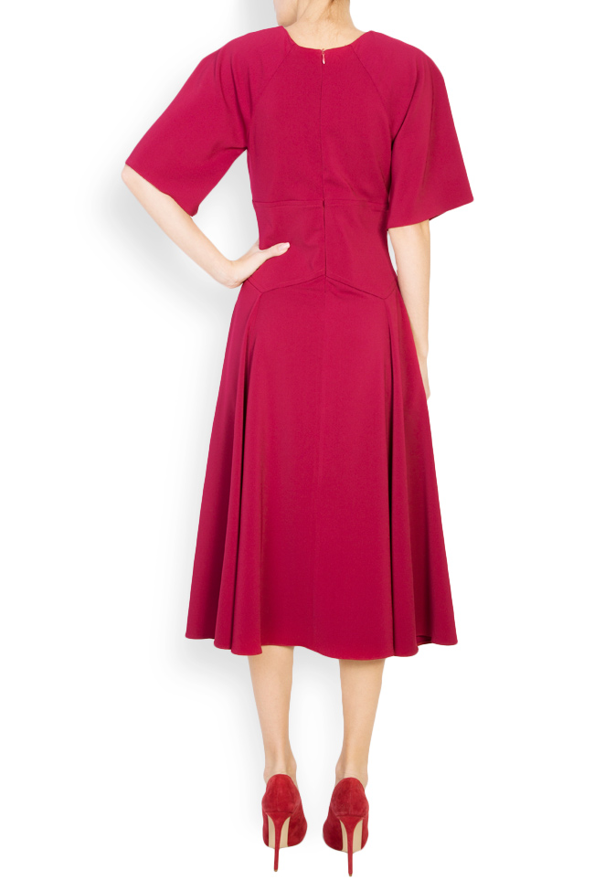 Cotton-blend crepe midi dress Bluzat image 2
