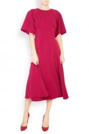 BLUZAT Robe en crêpe de coton avec col tunique