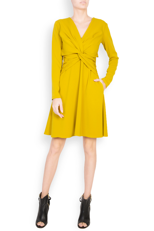 Knotted crepe mini dress Bluzat image 0
