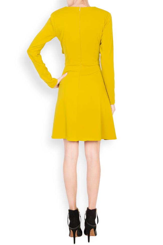 Knotted crepe mini dress Bluzat image 2