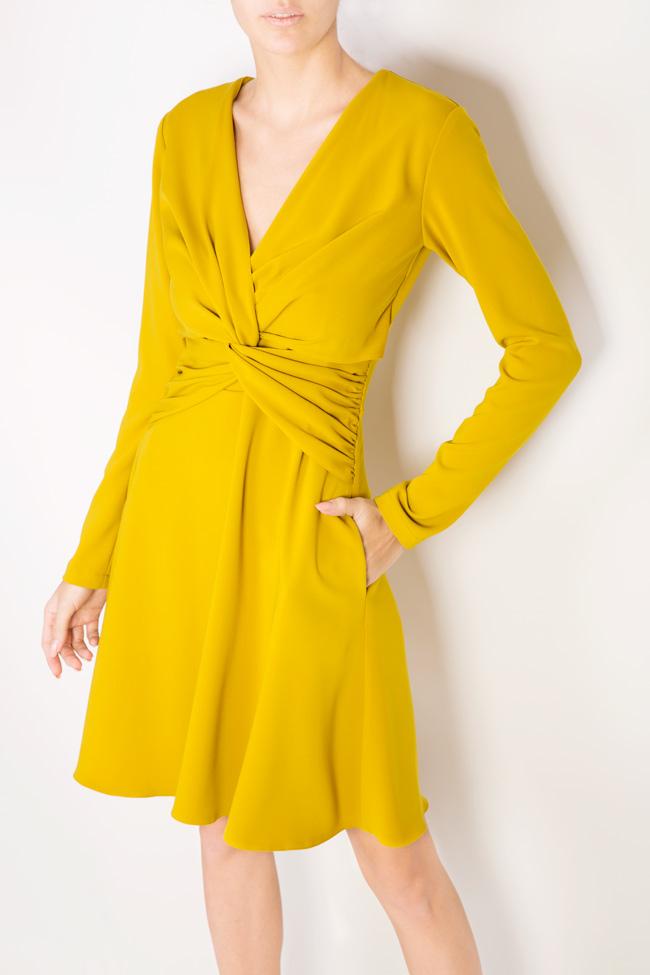 Knotted crepe mini dress Bluzat image 3